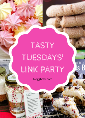 Tasty Tuesdays' Link Party Collage of features for Dec 3