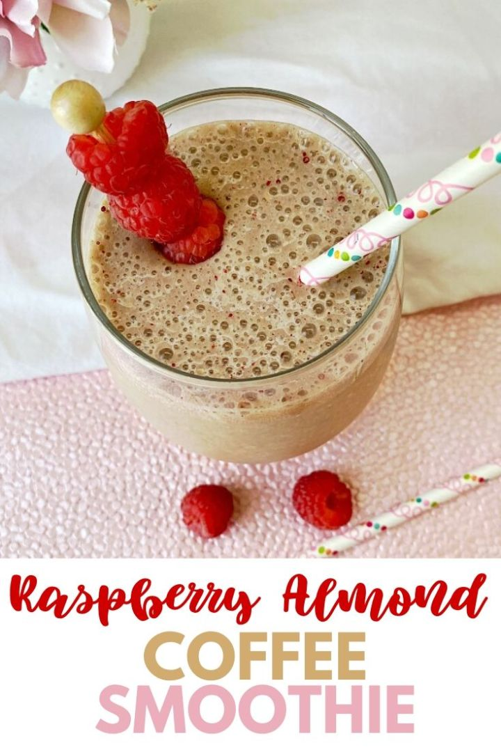 Easy Raspberry Almond Coffee Smoothie