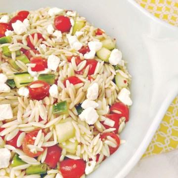Orzo Pasta Salad with Feta Cheese