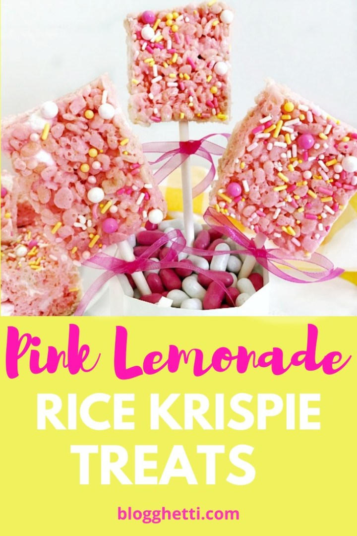 Pink lemonade rice krispie treats - pinterest