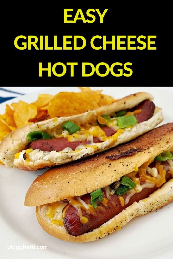 easy grilled cheese hot dogs