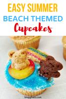 Beach Themed Lemon Cupcakes