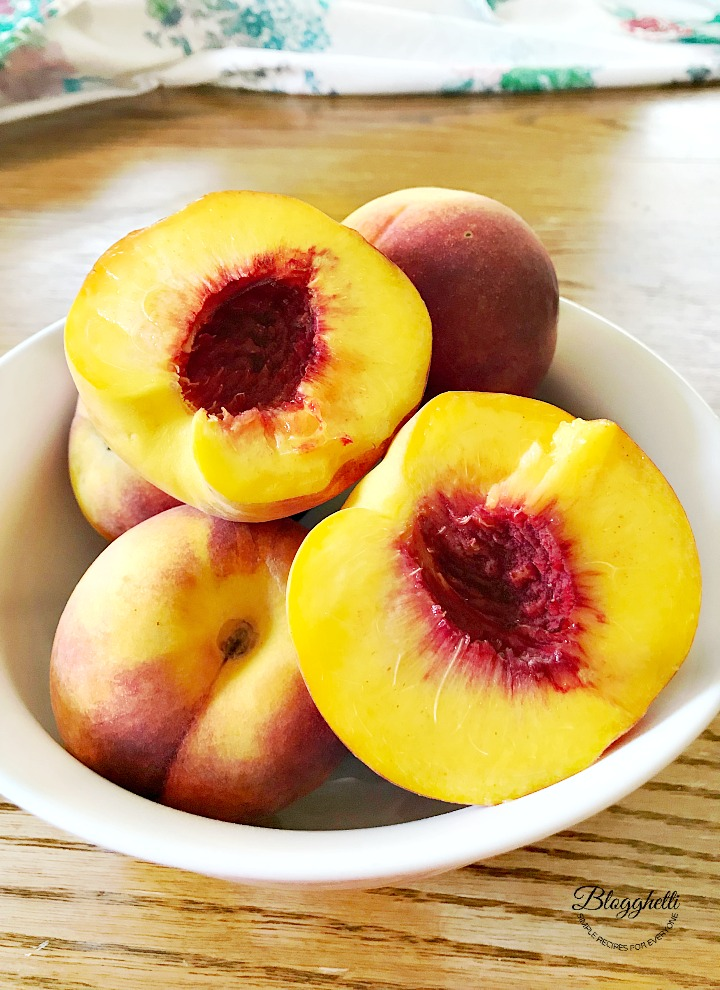 fresh peaches from local Georgia orchard