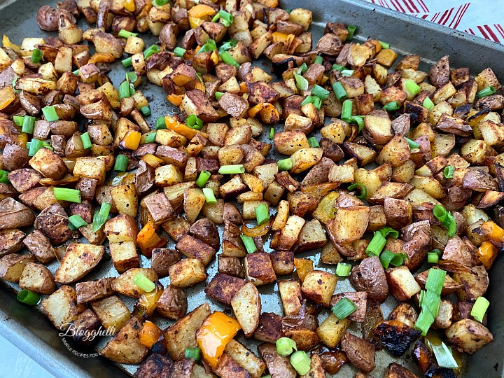 Oven Roasted Potatoes with peppers