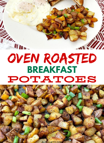 Oven roasted breakfast potatoes with eggs - Copy