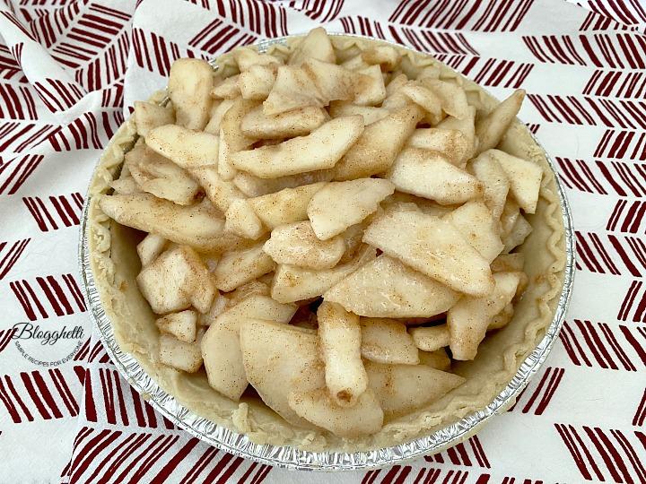 pears in pie shell