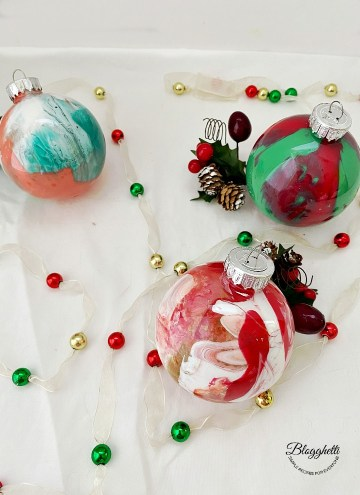 Handmade Pour Painted Christmas Ornaments