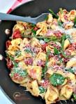 Tuscan Tortellini Skillet meal - meatless