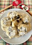 White Chocolate Cranberry Crinkle Cookies on plate