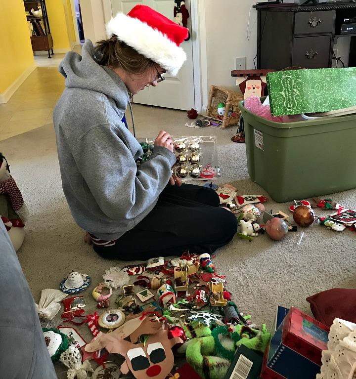 sorting more ornaments