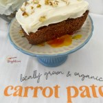 mini carrot cake loaf with nuts on top
