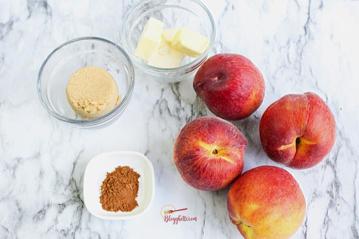 air fryer peaches ingredients