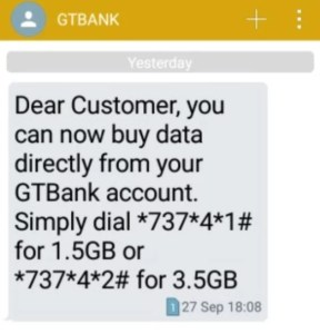 How to buy data from your GTbank accoint