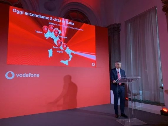 Italy Becomes the 3rd European Country with 5G Network; Courtesy Vodafone Italy