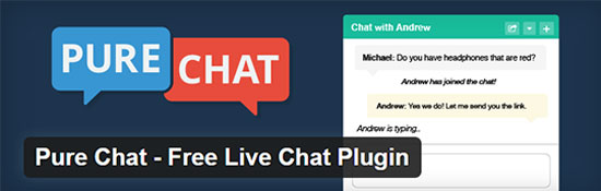 Pure Chat Kostenloses Live Chat Plugin