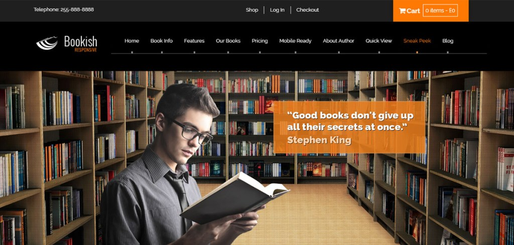 Bookish - Tema de WordPres