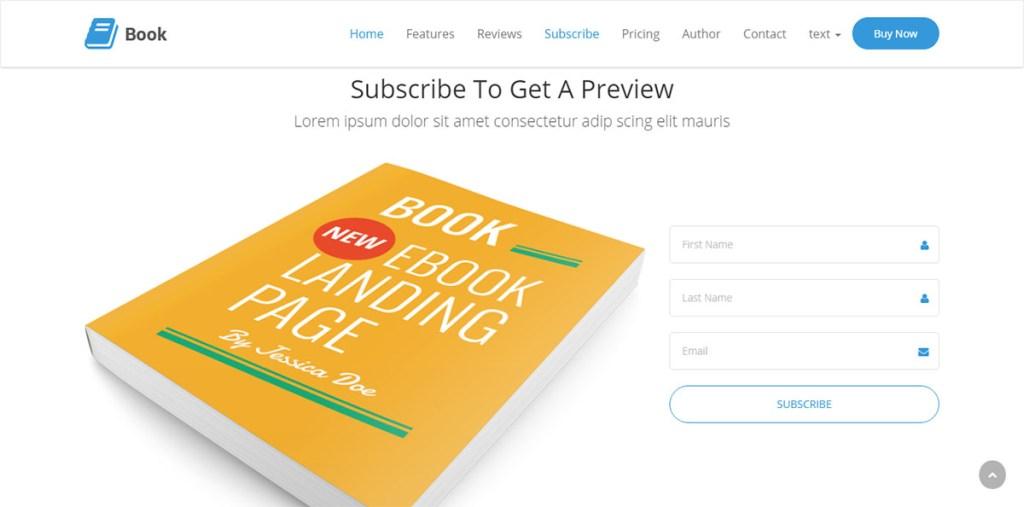 Buch - WordPres-Thema