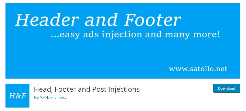 """Header-Footer-Post-Injection-WordPress-Header-Plugins """"Breite ="""" 986 """"Höhe ="""" 448 """"srcset ="""" https://themegrill.com/blog/wp-content/uploads/2019/01/Header-Footer -post-injizierungs-wordpress-header-plugins.jpg 986w, https://themegrill.com/blog/wp-content / uploads / 2019/01 / Header-Footer-Post-Injection-WordPress-Header-Plugins-300x136. jpg 300w, https://themegrill.com/blog/wp-content/uploads/2019/01/Header-Footer-post-injecttion-wordpress-header-plugins-768x349.jpg 768w """"Größen ="""" (maximale Breite: 986px) 100vw, 986px """"> </ p> </p> <p> Ein einfach zu verstehendes und zu verwendendes kostenloses WordPress-Header-Plugin, <strong> Kopf-, Fußzeilen- und Post-Injektionen </ strong>, macht genau das, was es impliziert.  Bietet dem Benutzer eine benutzerfreundliche Oberfläche zum Erstellen von Codes für Google Analytics, Facebook Pixel, Google DFP-Code und mehr zum Hinzufügen zu Kopf-, Fuß- und Posts.  Kopieren Sie einfach den generierten Code und fügen Sie ihn in das gewünschte Feld ein, um sofortige Ergebnisse zu erzielen.  Es enthält sogar einen speziellen AMP-Bereich, in dem Benutzer auf einfache Weise bestimmten Code in AMP-Seiten einfügen können.  Und das Beste daran ist, dass diese Codes völlig unabhängig vom verwendeten Thema sind.  Dadurch wird sichergestellt, dass die injizierten Codes auch dann intakt bleiben, wenn Sie das Thema der Site ändern.  Ein weiteres bemerkenswertes Merkmal ist die Reaktionsfähigkeit, die Sie mit verschiedenen Codes für Telefone und Desktops aktivieren können. </ P> </p> <div class ="""