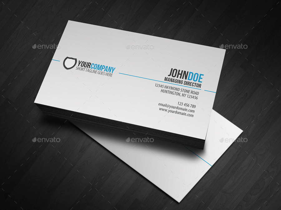 Professional Simple Business Cards Templates For - It business cards templates