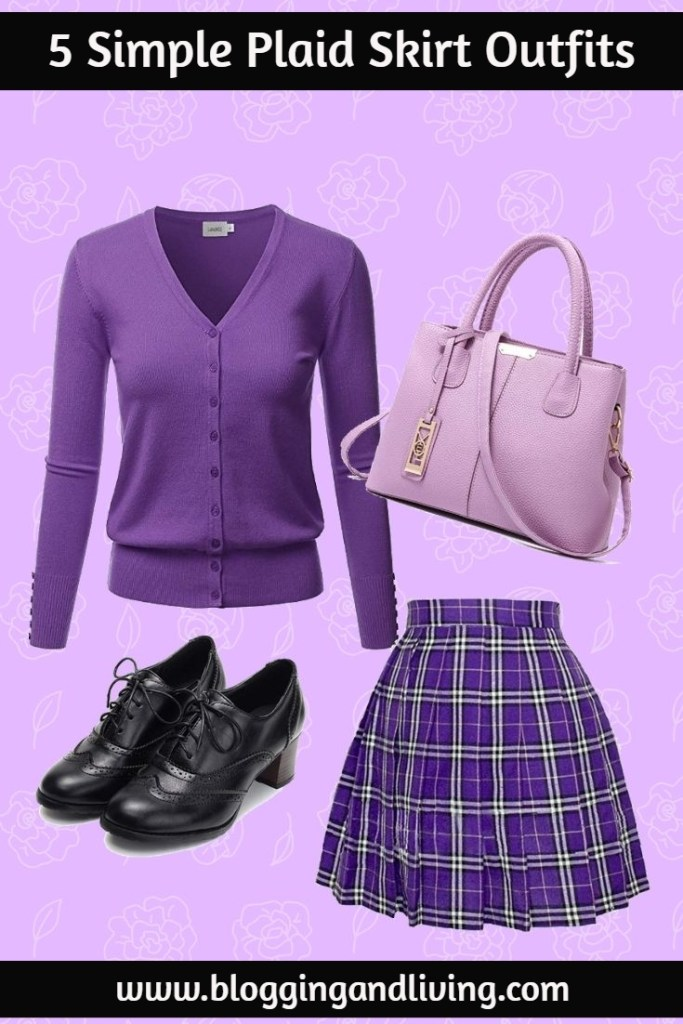 plaid skirt outfit