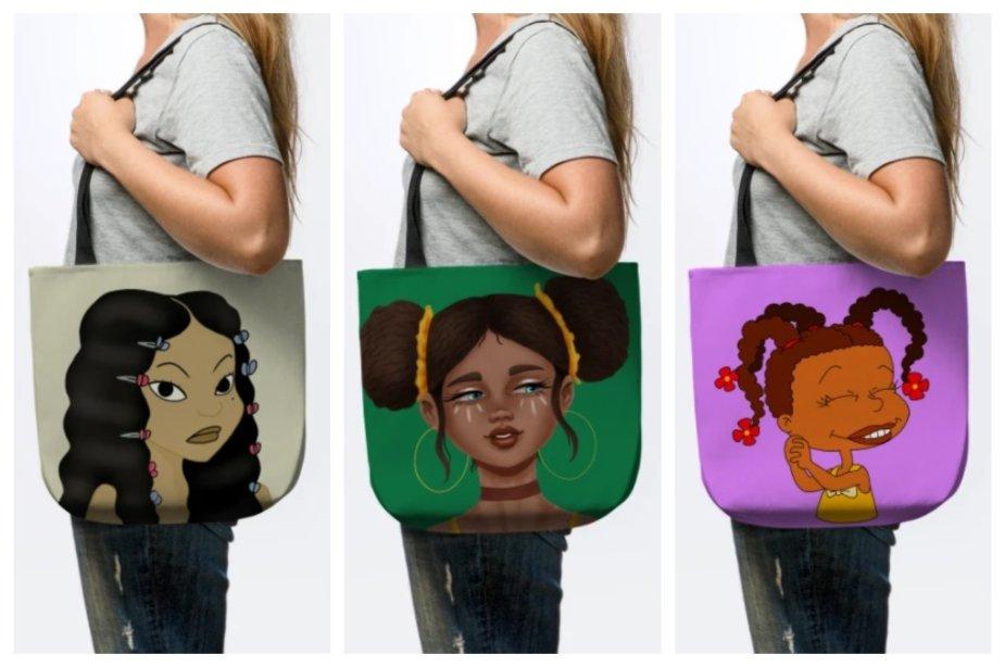 black girl tote bags