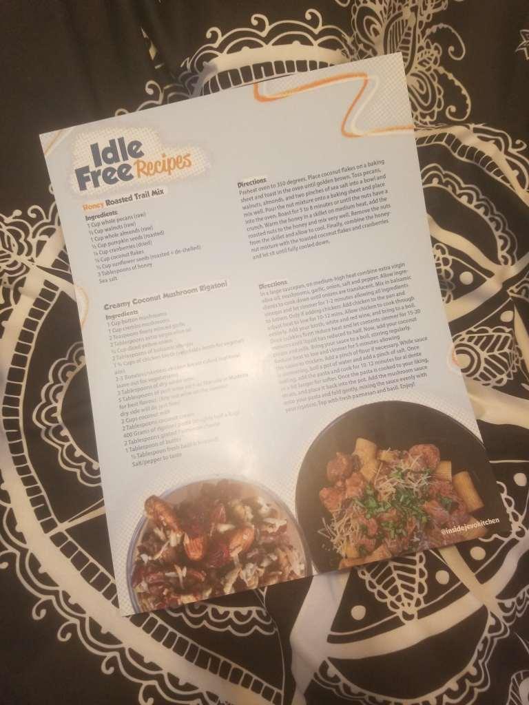 idle free recipes