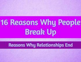 reasons to break up