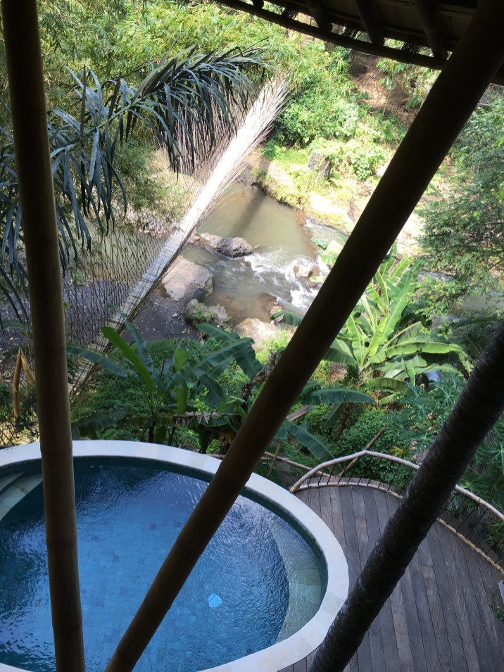 small plunge pool just outside of our downstairs entrance