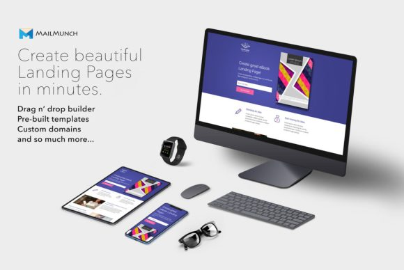 Creating landing pages with MailMunch