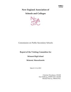NEASC Report on Belmont High
