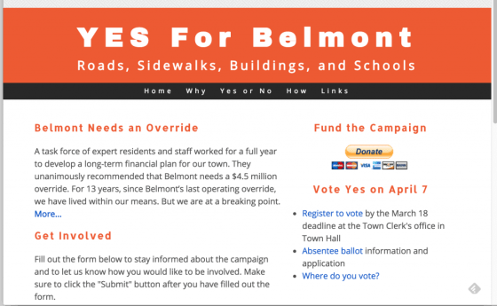 Yes For Belmont