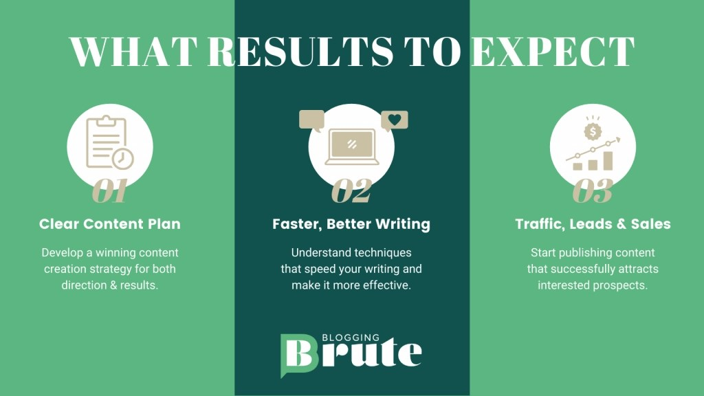 What Results To Expect from the Blogging Bootcamp