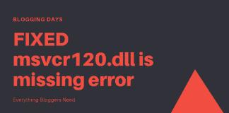 msvcr120.dll is missing error
