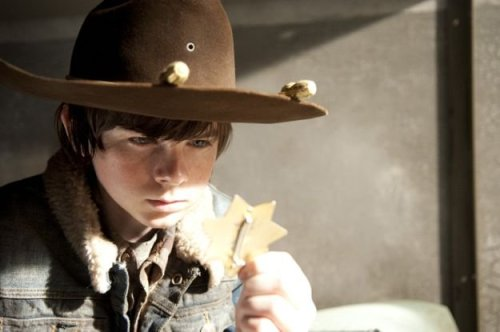 Chandler Riggs as Carl Grimes in The Walking Dead Season 3 Episode 16