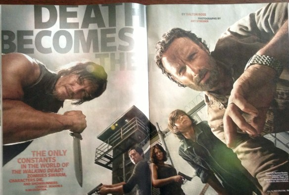 The cast of The Walking Dead in Entertainment Weekly