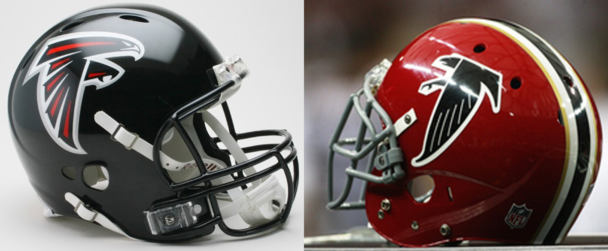 Red Or Black What S Your Preferred Atlanta Falcons Helmet