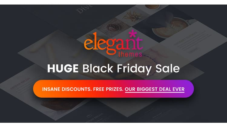 Elegant Themes Black Friday and Cyber Monday deal