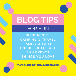 blogging for fun