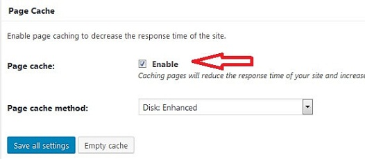 page-cache-setting