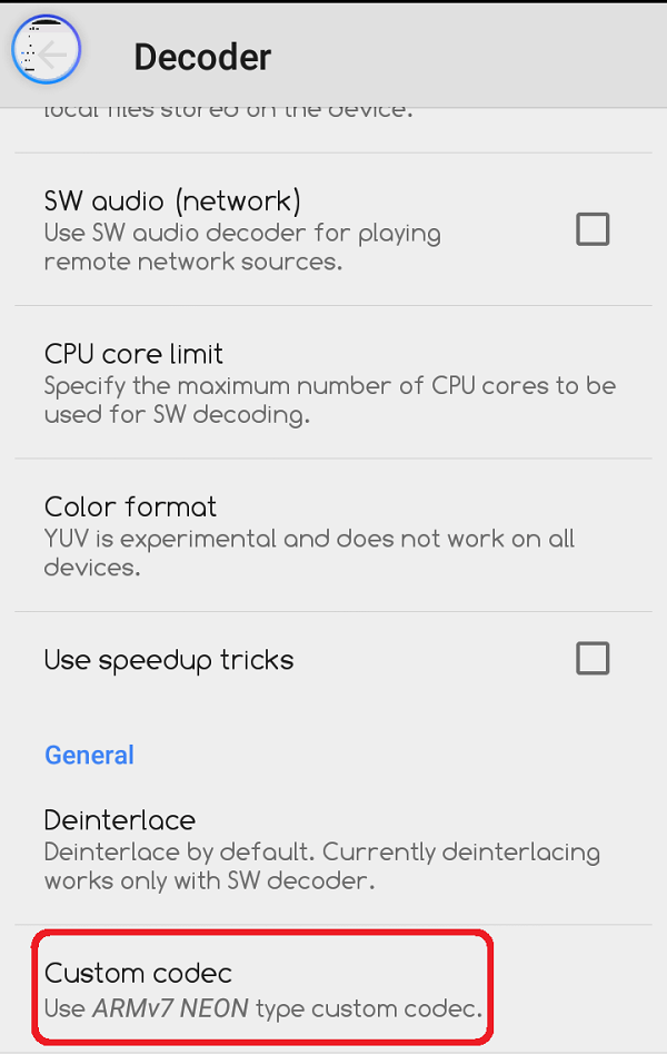 Custom Codec