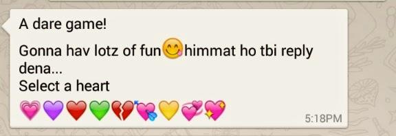 Whatsapp Dares for Girlfriend