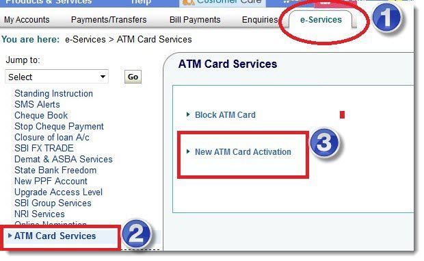 activate debit card online