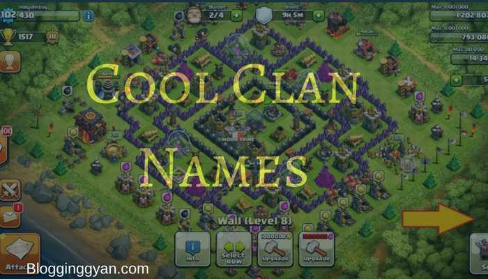 201+ Cool Clan Names for Clash of Clans and Call of Duty to Attract Player
