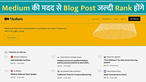 medium ke jariye website par traffic lao