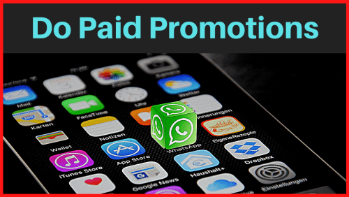 Do Paid Promotions for make money from whatsapp