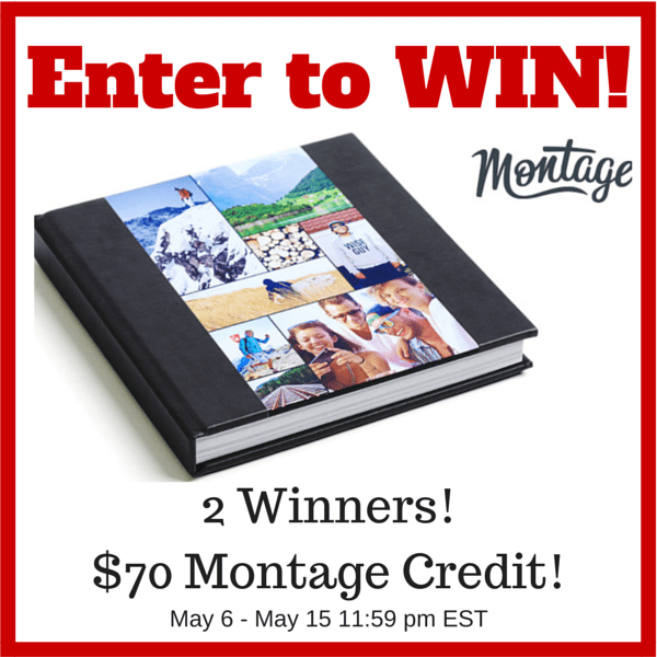 "Montage is part of our 2015 ""Must Haves"" Product guide. They are sponsoring this wonderful giveaway. 2 Winners will win a $70 Montage Credit so you can make your very own Montage Photo Book!! These are beautiful photo books that are super easy to make!"