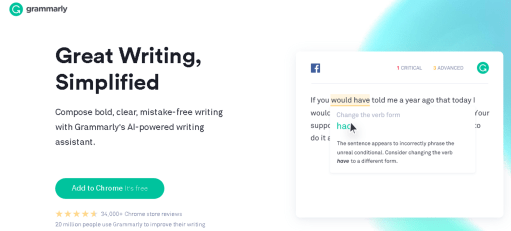 Grammarly proofreading help tool