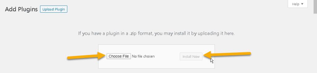 Wordpress Plugin install from file area