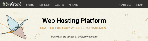 SiteGround Shared Hosting services