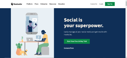 Social Media Planning Tools For Bloggers_Hootsuite